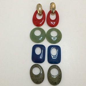 Vintage Gold Tone Interchangeable Earrings